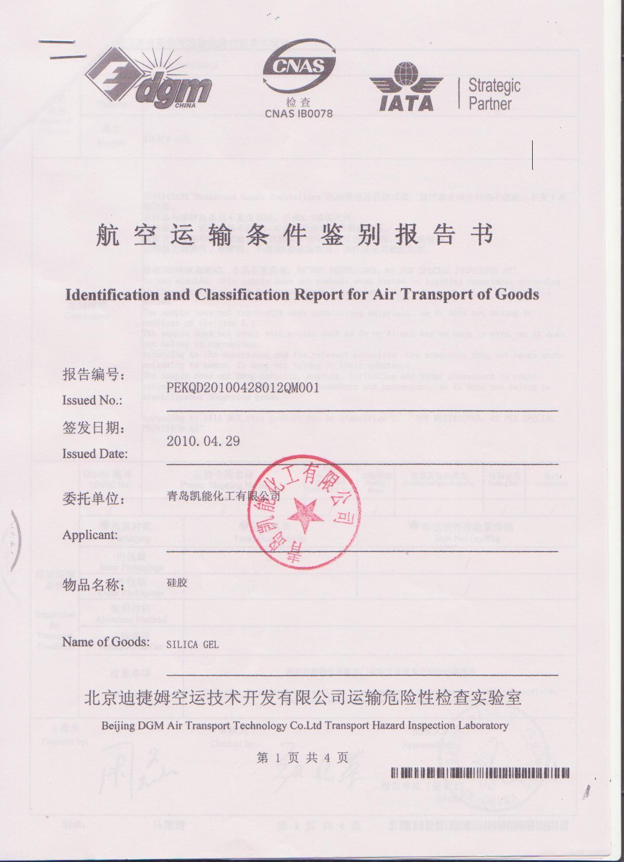 shipping documentation dgm